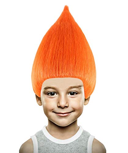 Halloween Party Online Troll Wig, Orange Kids HM-090