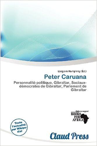 Livres Peter Caruana pdf