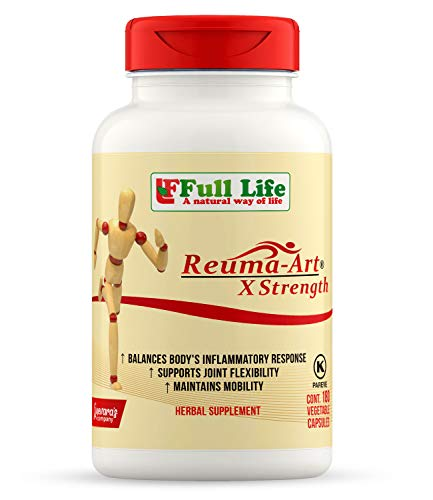 Full Life Reuma-Art X Strength - 180 Veggie Capsules - Extra Strength & Fast Acting Anti-Inflammatory - Joint Pain Relief Supplement (Art Clearance)