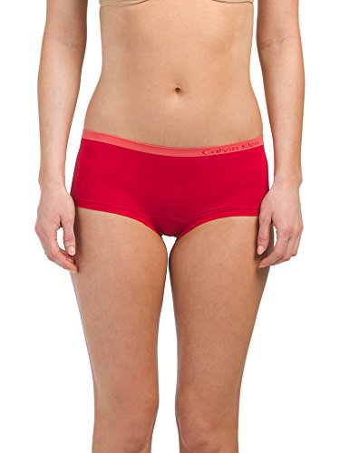 Calvin Klein Women`s Pure Seamless Boyshort Panty (Empower (QD3546-643)/Pale Pink, X-Small)