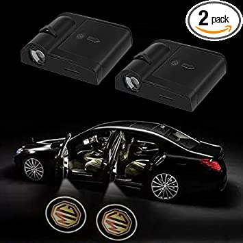 cadillac Bearfire 2 Pcs Wireless Car Door Led Welcome Laser Projector Logo Light Ghost Shadow Light Lamp Logos