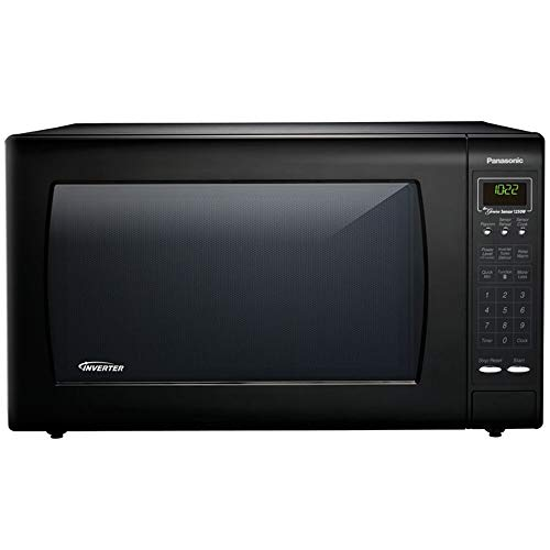 Panasonic NN-H965BF - 2.2 Cu. Ft. Countertop Microwave Oven with Inverter Technology - Black (Renewed)