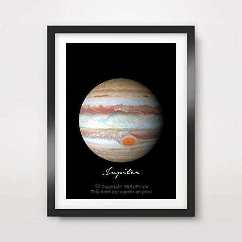 PLANET JUPITER ART PRINT Poster Home Decor Outer Space Photo Solar System Wall Picture A4 A3 A2 (10 Size Options) by MrArtPrints