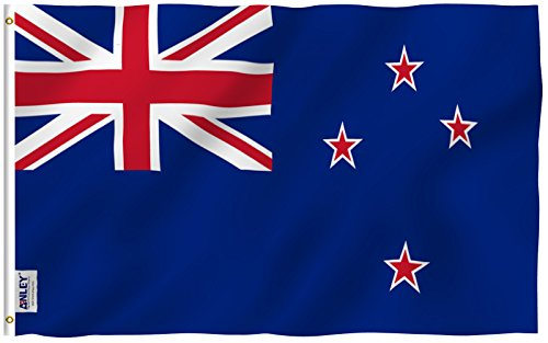 ANLEY [Fly Breeze] 3x5 Foot New Zealand Flag - Vivid Color and UV Fade Resistant - Canvas Header and Double Stitched - New Zealander Kiwi National Flags Polyester with Brass Grommets 3 X 5 (New Polyester Flag)
