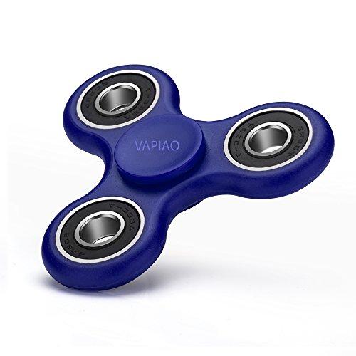 Fidget Tri (dreifach) Spinner Special Version mit 4 Kugellagern Anti Stress Kreisel Hand Spielzeug mit Keramik Kugellagern in Blau von VAPIAO