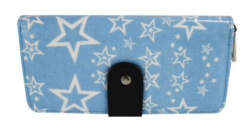 TrendStar - Cartera de mano para mujer azul - Blue Star Fashion Purse