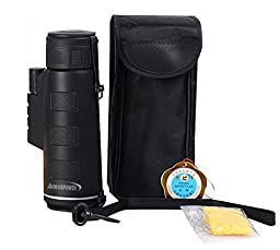 Aurosports Compact Size 35x50 High-powered Wide-angle Monoculars with Hand Strap