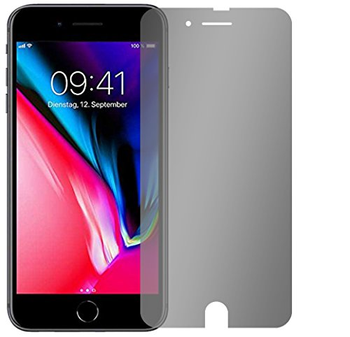Slabo pellicola protettiva per display iPhone 8 (pellicole rimpicciolite, a causa della convessità del display) View Protection|Protezione Dagli Sguardi Indiscreti privacy MADE IN GERMANY – Nero