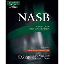NASB Wide Margin Reference Bible, Black Edge-lined Goatskin Leather, Red-letter Text, NS746:XRME