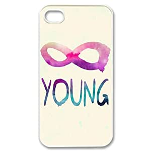 Forever Young Original New Print DIY Phone Case for Iphone 4,4S,personalized case cover ygtg590867