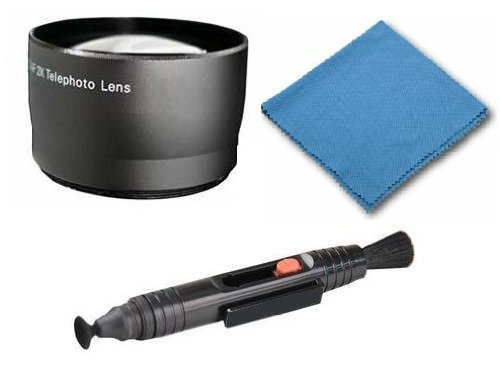 Samsung HMX-U10 2.0x Telephoto (Modification Style) Magnetic Lens + DIGI Micro-Fiber Cleaning Cloth + Pro Lens Cleaning Pen. by Digi