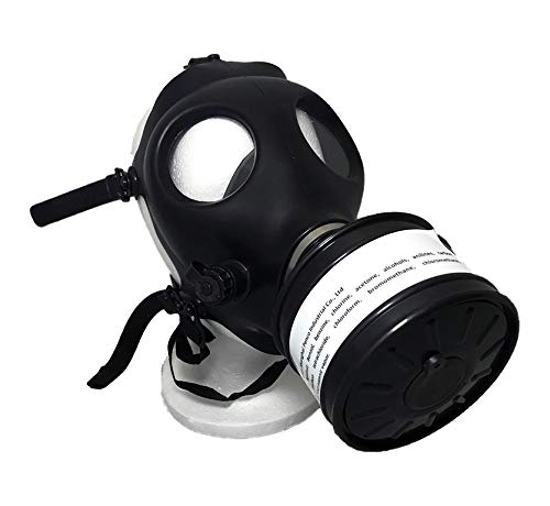 Israeli Rubber Respirator Style Mask NBC Protection w/Premium Black 40mm Premium FILTER Canister For Industrial Use Chemical Handling Painting, Welding, Prepping, Emergency Preparedness KYNG TACTICAL