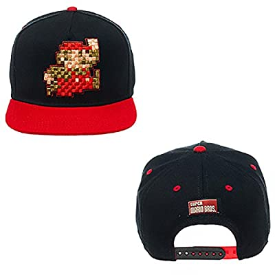 Nintendo - Pixel Mario Black Snapback Hat Size ONE SIZE from Bioworld