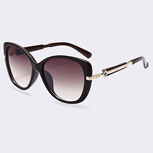 de Lentes de UV400 Anteojos moda TIANLIANG04 oval de estilo marco verano mujer sombras Gafas de espejo C05 Gafas de C02 de sol wqStZ