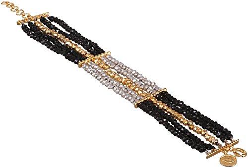 Jade Jagger Bracelet Plaqué Or Ronde Spinelle (Le) Noir Femme