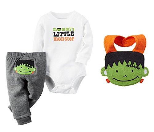 Frankenstein Outfit (Carter's Baby Boys' Mommy's Little Monster Halloween Bodysuit Set With Bib (9 Months))