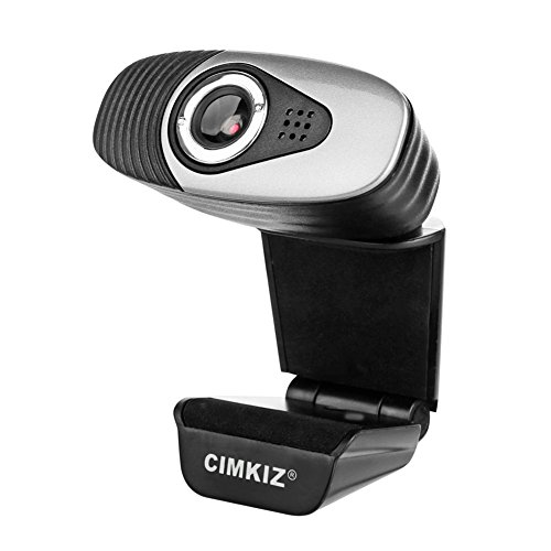 (Cimkiz A871 USB Webcam,Web Camera,Web cam Desktop Camera with Built-in MIC for Video Calling and Recording on Skype/FaceTime/YouTube/Hangouts/On Air (Black))