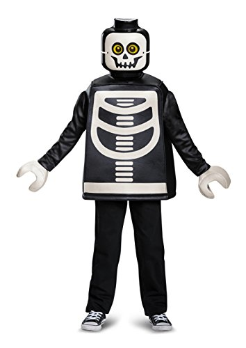 Disguise Lego Skeleton Classic Costume, Black, Small (4-6) ()