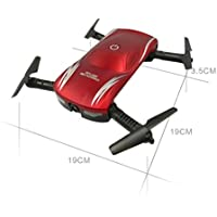 X185 RC Drone, Foutou 2.4G 4CH HD Camera WIFI FPV Altitude Hold Selfie Foldable Quadcopter Red