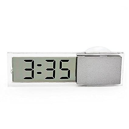 TOOGOO Pantalla LCD Reloj electronico digital con lechon LED para todos los coches Interior de la
