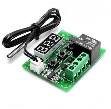 Robotbanao W1209-50~100 Digital Temperature Controller 12v and Sensor Thermostat, Green and Black product image