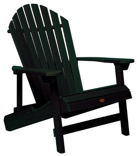 Highwood King Hamilton Folding and Reclining Adirondack Chair, Charleston Green