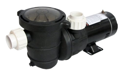 (High Performance Swimming Pool Pump Above-Ground 1 HP with Union Fittings)