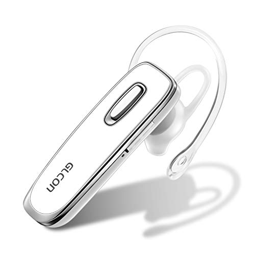 Bluetooth Earpiece for Cell Phone – GLCON Wireless Headset for iPhone Samsung Galaxy Android – Stereo Sound Bluetooth…