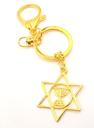 Dangle Costume David Designer (Star of David/Menorah- Hanukkah Hannukah Chanukah -Car Accessory- Pocket - Pocketbook -)