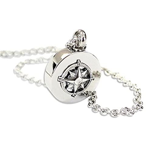 Compass Rose Cremation Ashes Urn Pendant Memorial Necklace (24)