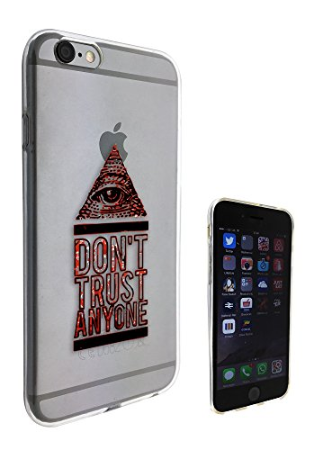 c0130 - Don't Trust Anyone Pyramid Eye Design Pour iphone 5C Protecteur Coque Gel Rubber Silicone protection Case Coque