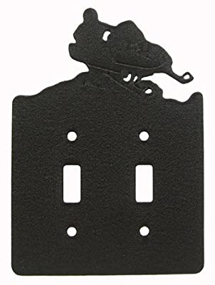 Snowmobile Double Light Switch Plate Cover