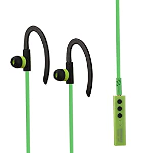 Aobiny Earphone Wireless Bluetooth Headset Stereo Headphone Earphone Sport For iPhone (Green)