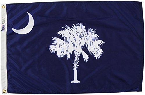 South Carolina State Tree - Annin Flagmakers Model 144850 South Carolina State Flag 2x3 ft. Nylon SolarGuard Nyl-Glo 100% Made in USA to Official State Design Specifications.
