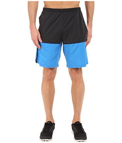 "Nike Flex Men's 9"" Running Shorts, Black/Light Photo Blue/Reflective Silver, Medium"