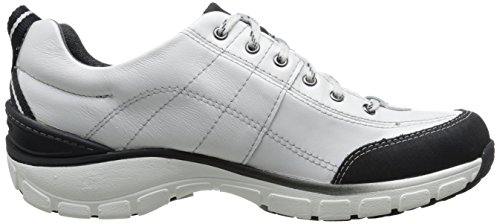 Up Women's Fashion White Wave Leather Trek Clarks Sneaker Lace RaxwRq