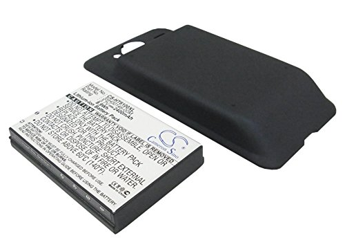 Cameron Sino CS-HT6100XL Extended Cell Phone Battery + Back Cover for HTC EVO Shift 4G / Knight / Speedy / PG06100 - 2400 mAh - Retail Packaging