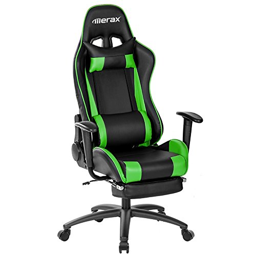 Merax Racing Gaming Chair Office Chair Swivel Computer Chair with - Curve Rocking Back Chair