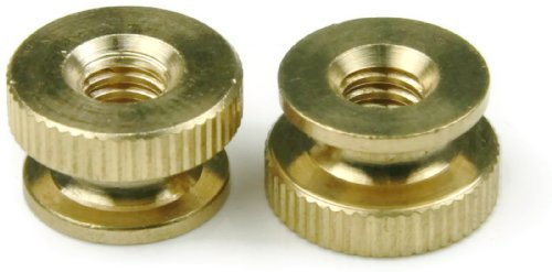 Knurled Thumb Nut Brass - 8/32 (7/16 Dia x 5/16 Thick) Qty-25 by RAW PRODUCTS CORP
