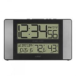 La Crosse Technology 513-1417H-AL Atomic Digital Wall Clock with Indoor Temp and Humidity - Digital - Ato (513-1417H-AL) (La Crosse Technology)