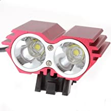 RioRand® 1500 Lumen 2x CREE XML U2 LED Cycling Bicycle Bike Light Lamp HeadLight Headlamp-Red