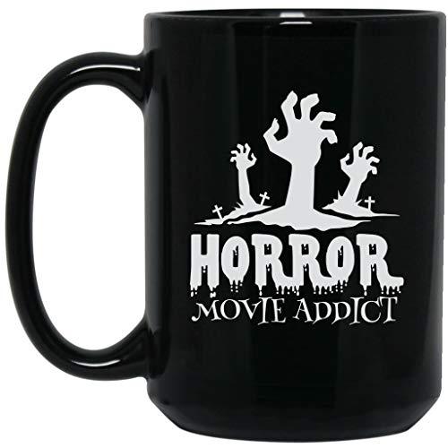 Horror Movie Addict Funny Halloween Scary Costume Festival Gift For Womens Black Mug for $<!--$17.95-->
