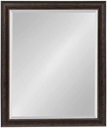 Kate and Laurel Aldridge Framed Wall Mirror, 26×32, Bronze