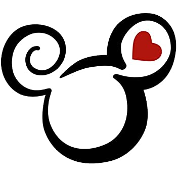 Amazon.com: Minnie Mouse Two Color Tribal Swirl Tattoo Vinyl Decal ...