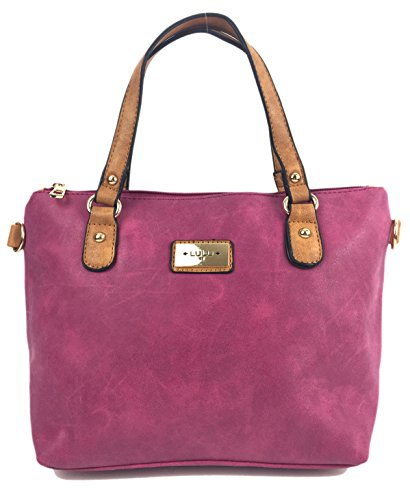Designer Handbags for Ladies Candy Beautiful Women's Grab Bag with Detachable Adjustable Shoulder Strap. Raspberry