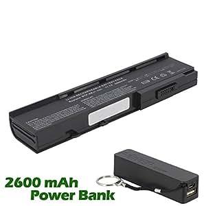 Battpit Bateria de repuesto para portátiles Acer Aspire 5543NWXCi (4400mah / 49wh) con 2600mAh Banco de energía / batería externa (negro) para Smartphone