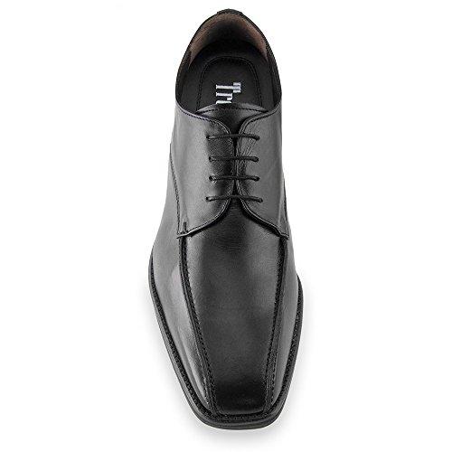 Masaltos Scarpe con Rialzo da Uomo Che Aumentano l'Altezza Fino a 7 cm. Fabbricate in Pelle. Modello Napoles Nero