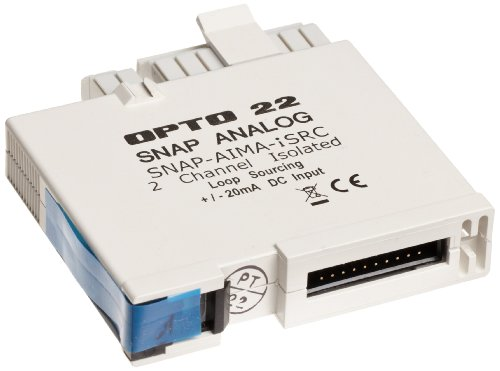 (Opto 22 SNAP-AIMA-iSRC - SNAP Isolated Analog Current Input Module with Loop Sourcing, 24-30 VDC, Input Range -20 to +20 mA)