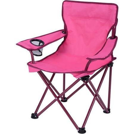 Built-in Cup Holder Kid's Folding Camp Chair, Pink