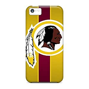 Durable Hard Cell-phone Cases For Iphone 5c With Unique Design High-definition Washington Redskins Image PhilHolmes
